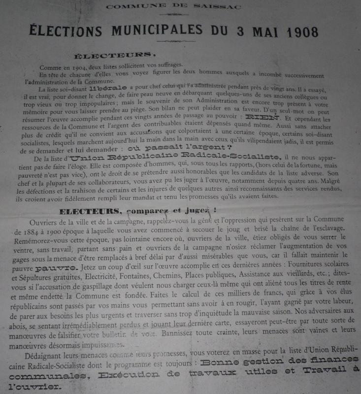 Elections 1908 1